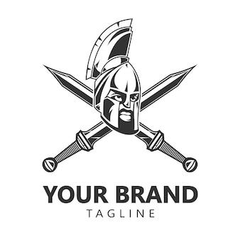 Дизайн логотипа спартанского воина