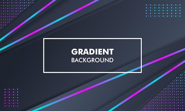 現代風景のグラデーションの背景ネオンライト