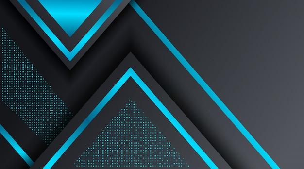 黒と青のテクノ企業のビジネスの背景デザインテンプレート