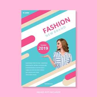現代ファッションの新しいブランドのビジネスチラシテンプレート