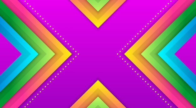 幾何学的なカラフルなグラデーションの背景テンプレート