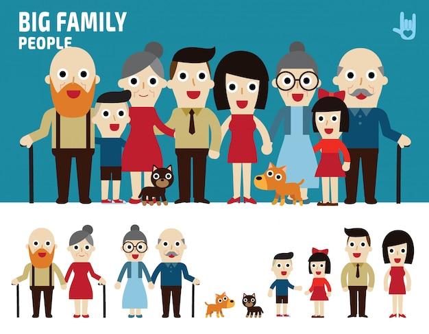 Большие семейные персонажи