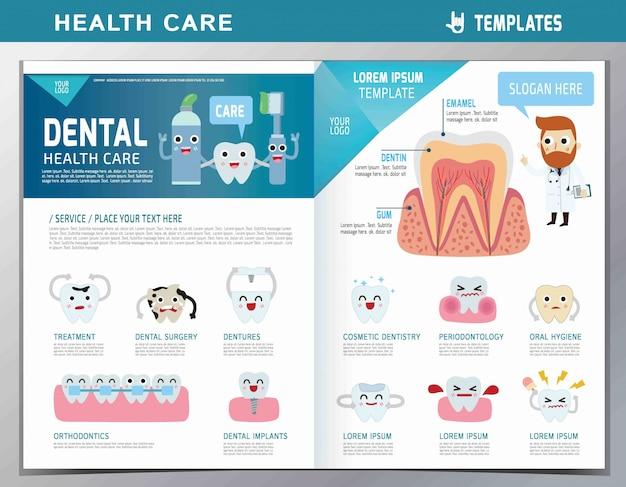漫画の歯科医と患者のイラスト。歯の手入れ。