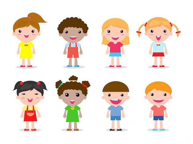 Набор детей символов иллюстрации