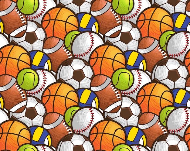 Спортивные шары бесшовные шаблон
