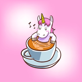 かわいいユニコーンコーヒー