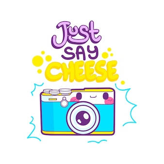 Симпатичный стикер камеры смайлик