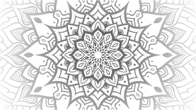 黒と白の曼荼羅の背景とテクスチャ