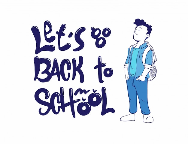 学校に戻るベクトルイラスト