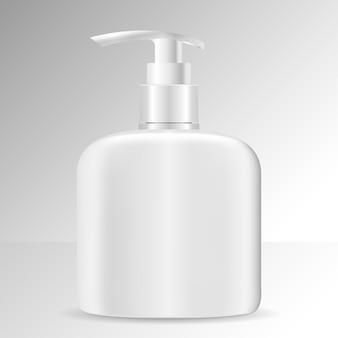 Реалистичная косметическая бутылка. косметическая упаковка мыло