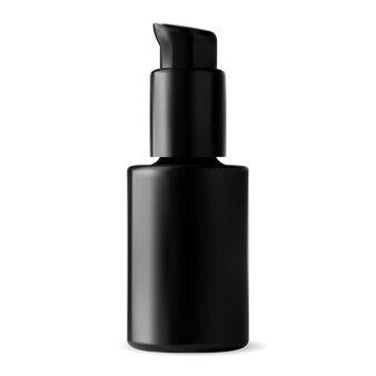Черная дезинфицирующая бутылка. сыворотка спрей стеклянная упаковка