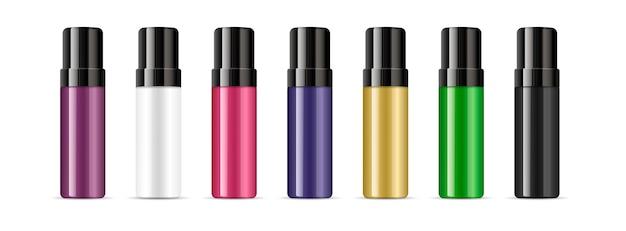 ふたの異なる色の消臭化粧品ボトル