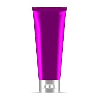 Фиолетовый крем или мазь косметический тюбик. реалистический