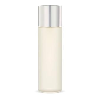 不透明なガラス保湿剤化粧品ボトル。パッケージ