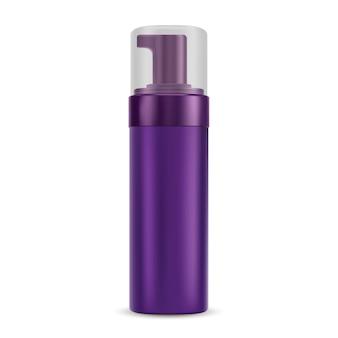 ポンプディスペンサーキャップ付き化粧品ボトル。