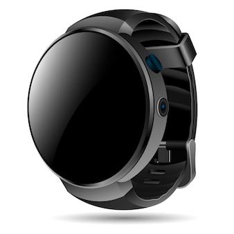 スポーツ、カジュアルな使用のためのスマートな腕時計モックアップテンプレート。