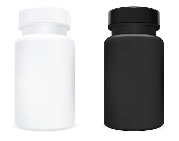 サプリメントボトル。ピルジャー。スポーツ薬瓶。