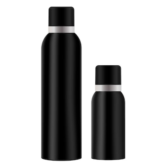 エアスプレーフレッシュナーボトル。化粧品の錫。