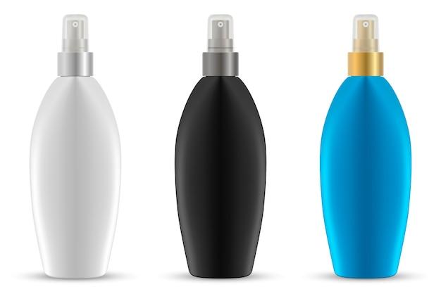 スプレー・ボトル。日焼け止め保護容器。