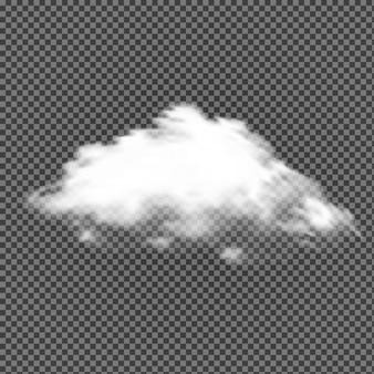 透明な背景の中の雲
