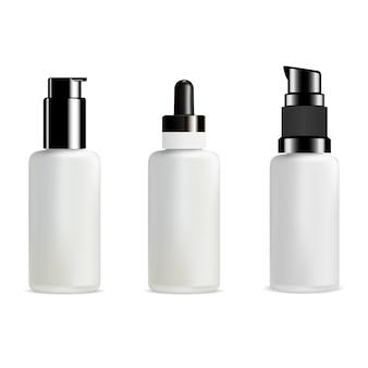 ポンプボトル。化粧品ディスペンサーガラスパッケージ
