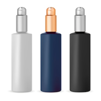 Бутылка с помпой, косметическая упаковка для сыворотки