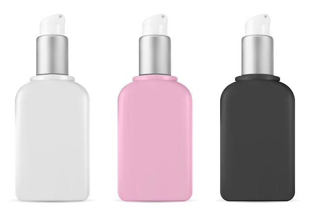 ポンプ化粧品ボトル