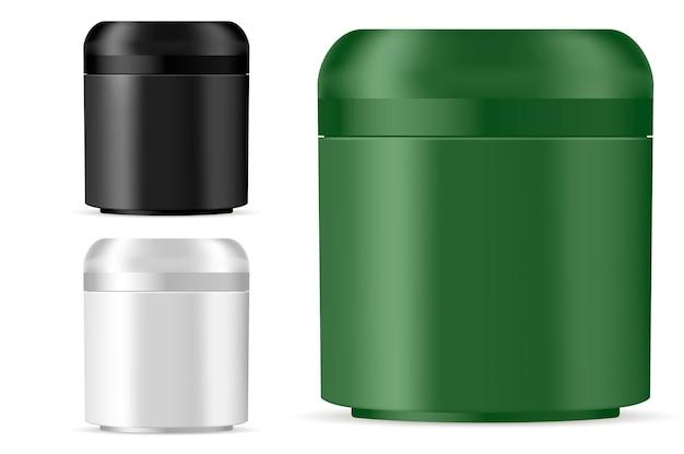 クリーム、軟膏、粉末の化粧品の瓶のモックアップ