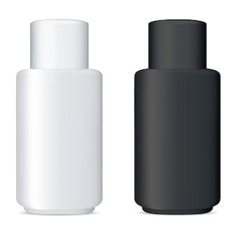Набор векторных бутылок. пакет косметического шампуня
