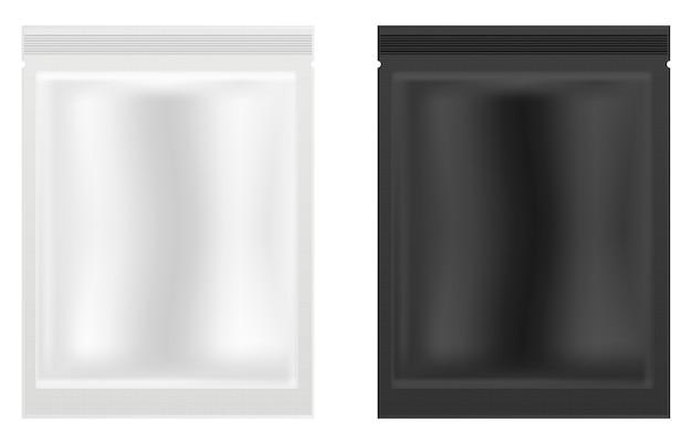 フェイスマスクパッケージ。フェイシャル化粧品小袋コラーゲン