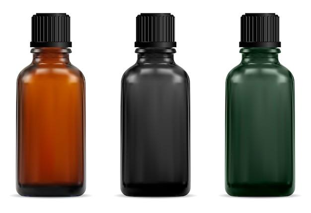 Коричневая стеклянная медицинская бутылка. аптечный сироп