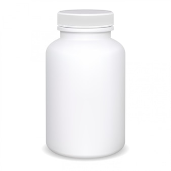 サプリメントボトル、ピルコンテナモックアップ、ジャー