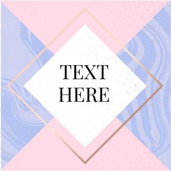 Шаблон рамка квадратная текучая мода розовая