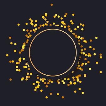 Золотая рамка круглая минимализм