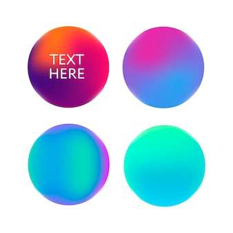 紫、ピンク、青の球の抽象的なグラデーション