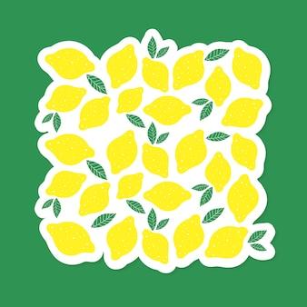 レモンスタイルのベクトル図ミニマリズム黄色キッチン