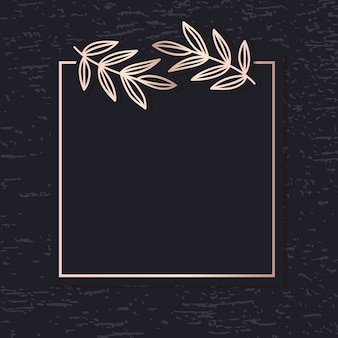 ゴールデンフレームパターンアートベクトル葉エレガントな背景カバーカード