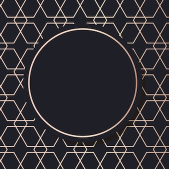 Золотая рамка искусства вектор геометрический элегантный фон