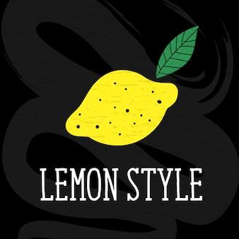 Лимон стиль векторная иллюстрация минимализм желтый доске