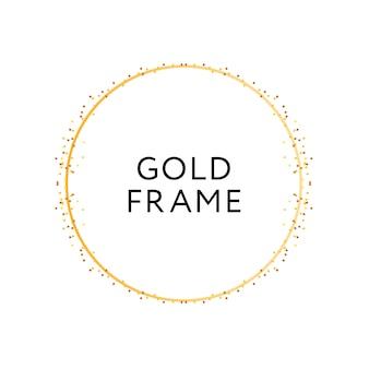 ゴールドフレームラウンドミニマリズムベクターデザインバナー