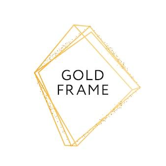 ゴールドフレームの幾何学的形状のミニマリズム