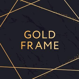 ゴールドフレームの幾何学的形状のミニマリズムベクトルデザインバナー