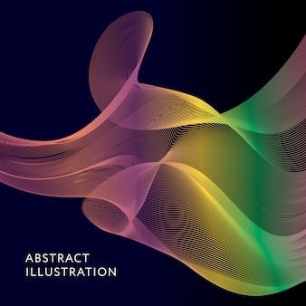 幾何学的抽象イラストの背景ベクトル図形