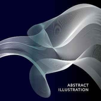 幾何学的抽象イラストの背景ベクトルバナー