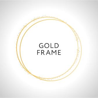 Золотая рамка декора