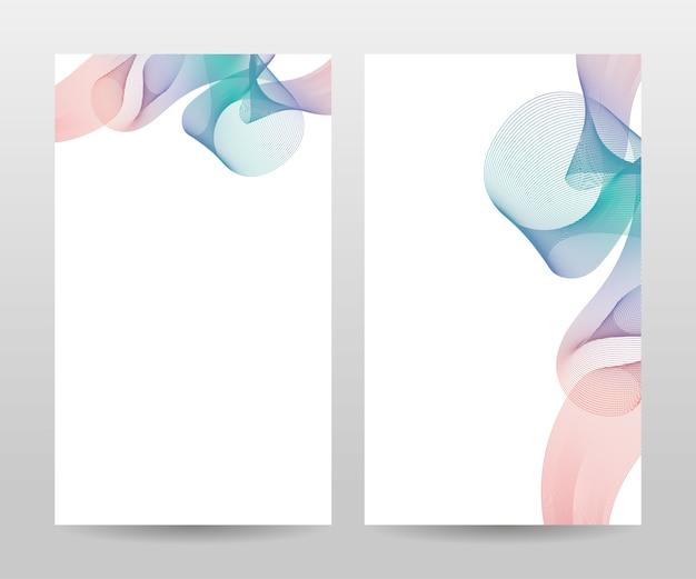 Пустая белая обложка с разноцветными волнами