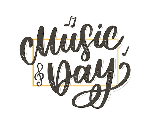 ワールドミュージックの日のレタリング