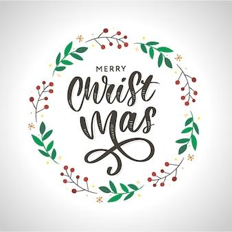 クリスマス飾り花輪フレーム