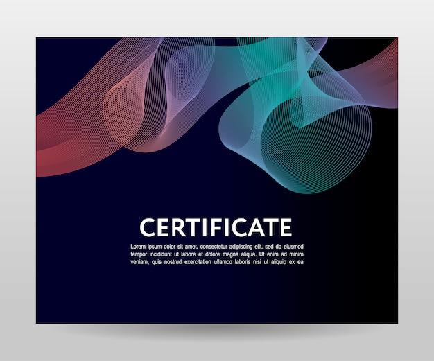 証明書テンプレートの卒業証書