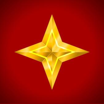 分離された星の現実的なメタリックゴールデン